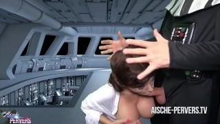 PORN WARS – Star Wars Amateur Porn – Aische Pervers fucked by Darth Vader!